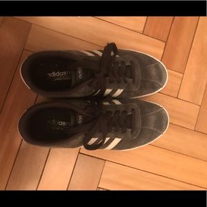 Adidas dark gray suede sneakers